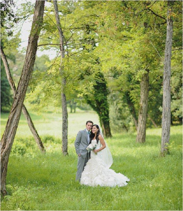 woodland wedding in France