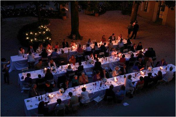 Evening wedding receptions