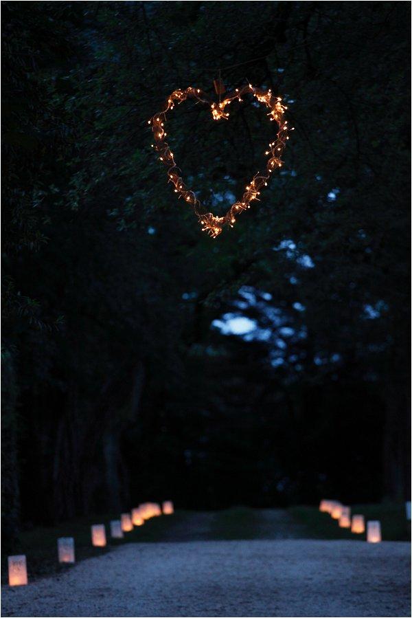 Heart Light wedding decoration