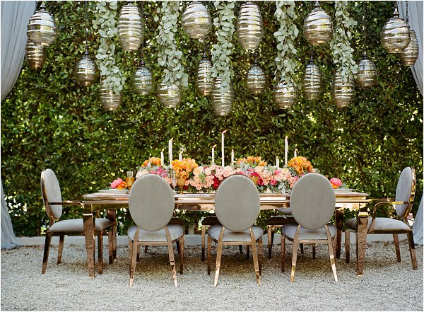 Spring wedding table ideas