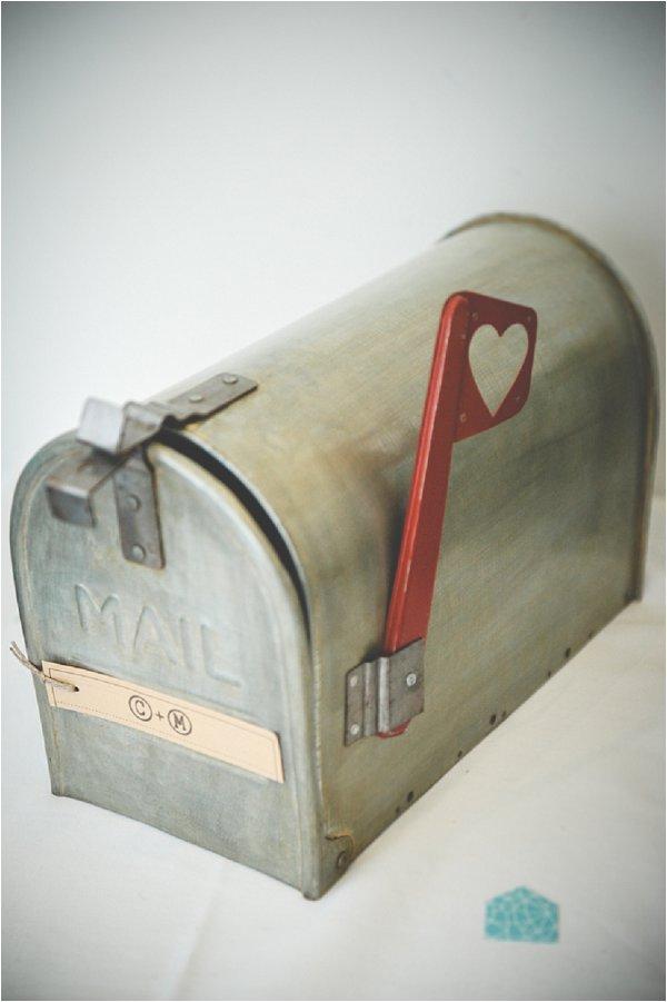 US mailbox wedding cards