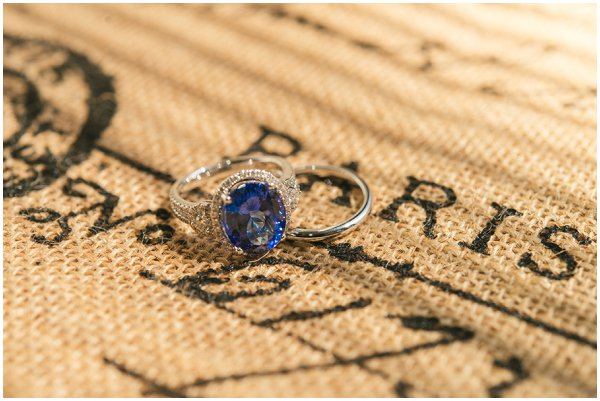 blue saphire engagement ring