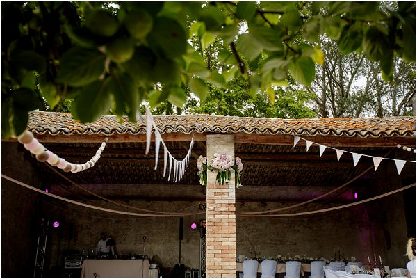 bunting wedding decorations