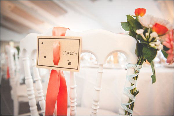coral chair decorations