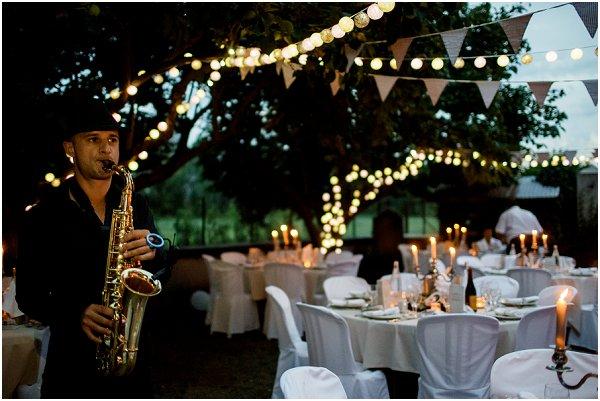 evening outdoor reception ideas