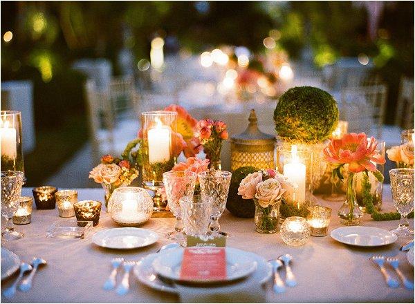 evening wedding lighting