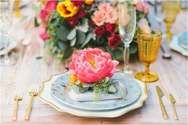 flower wedding placesettings