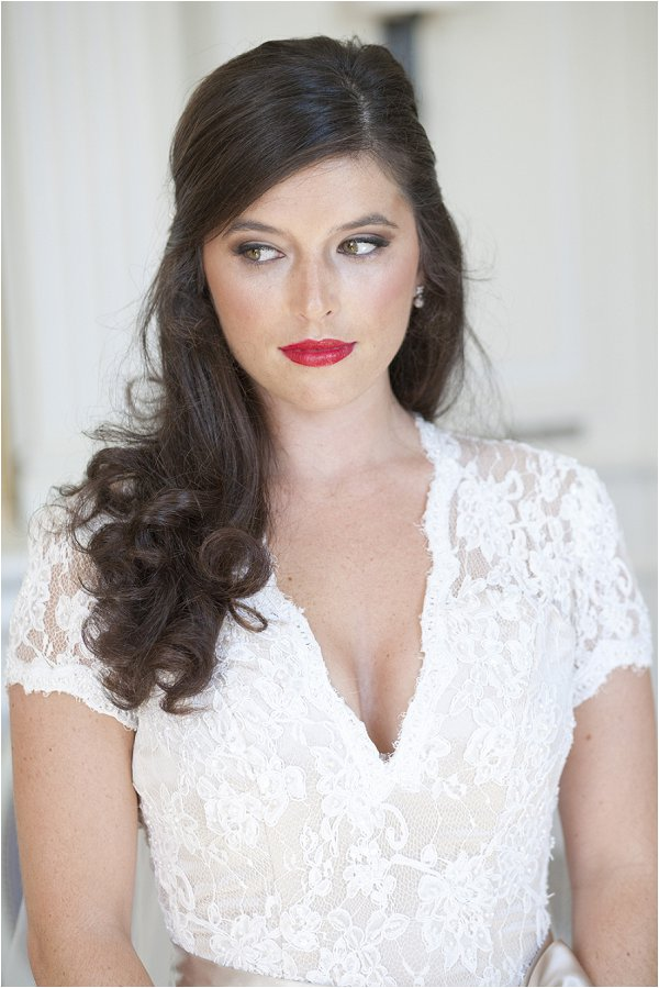 glam wedding day hair and makeup