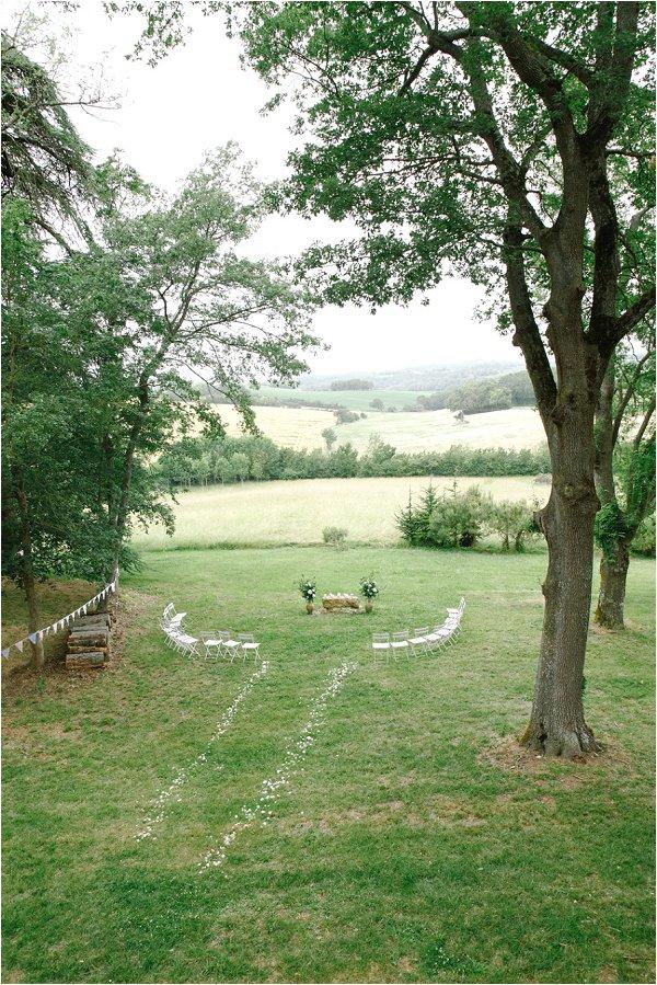 ideas for outdoor wedding ceremony