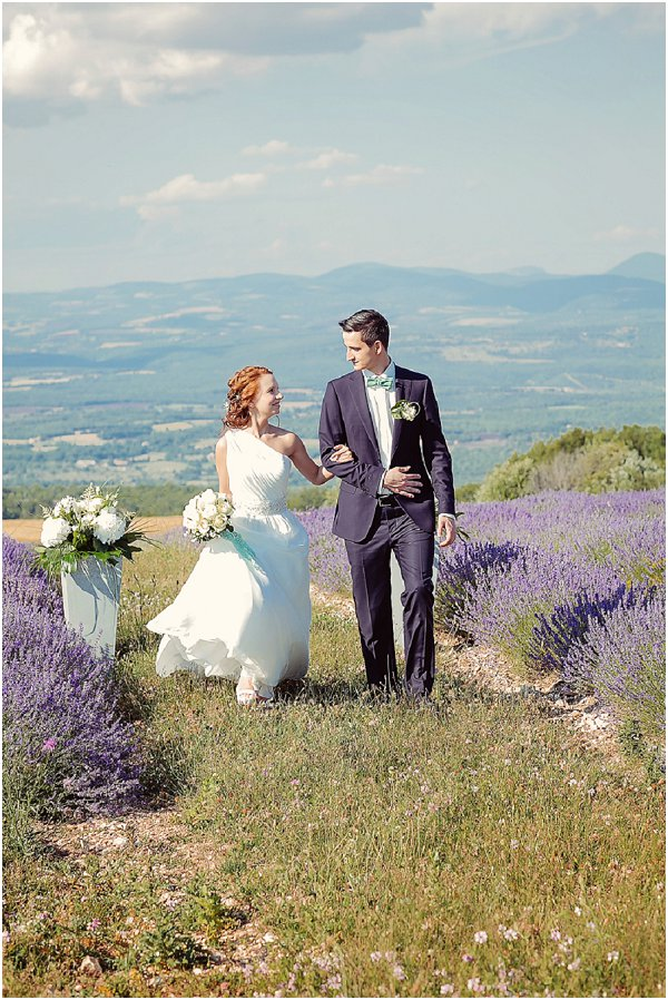intimate wedding blessing Provence Lavender Fields in Provence