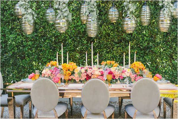 spring wedding tables