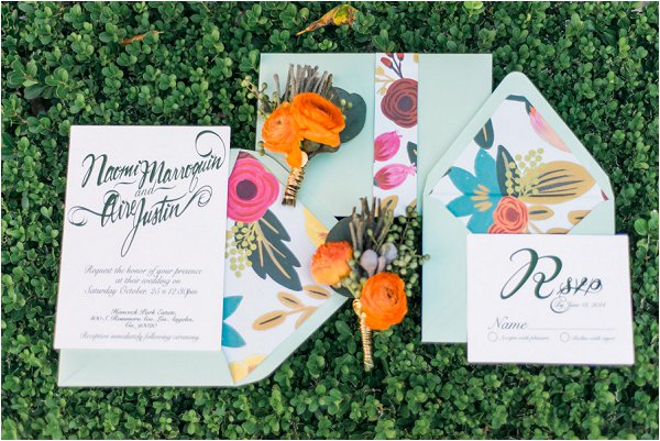 springtime wedding stationery