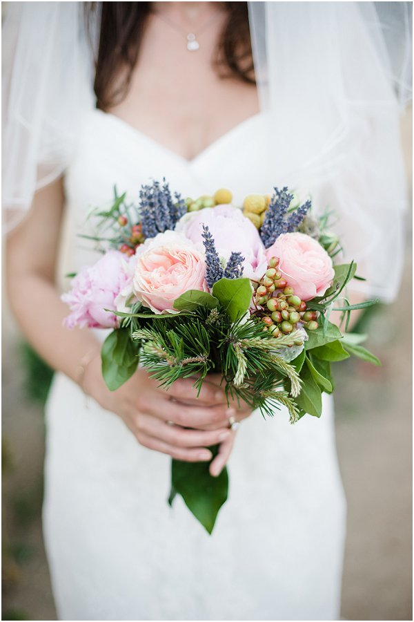 summer bridal bouquet in France