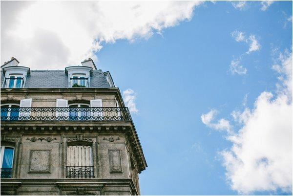 the sky over Paris