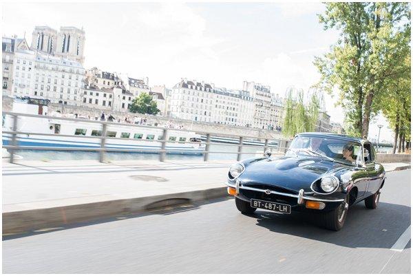 vintage car in paris
