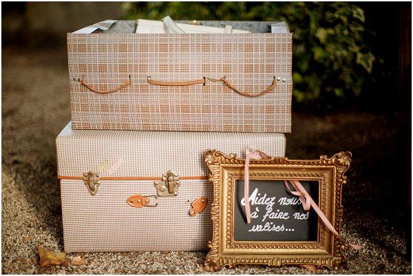vintage suitcase wedding props