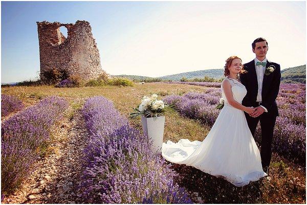 wedding in a lavender fields