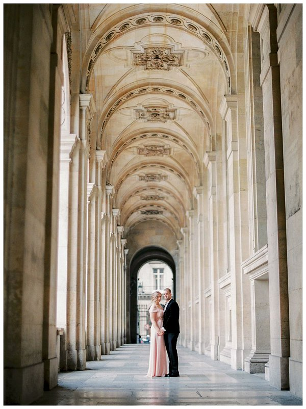 Anniversary session at Louvre Paris