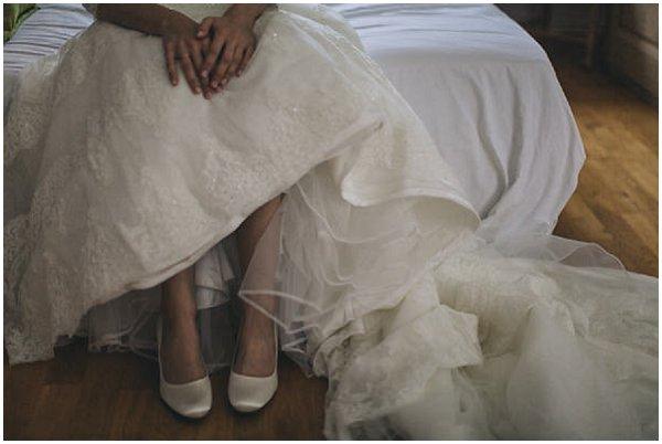 Rainbow Club white wedding shoes