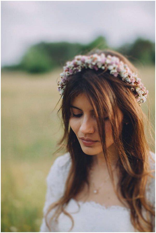 bohemian bridal floral crown
