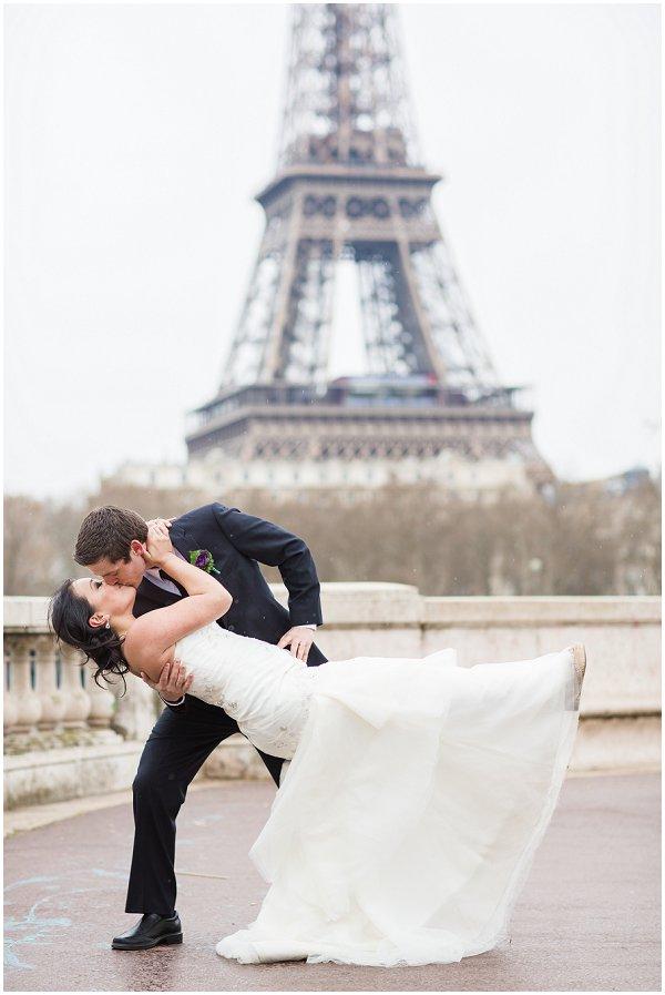 eiffel tower wedding day