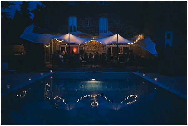 evening wedding in France