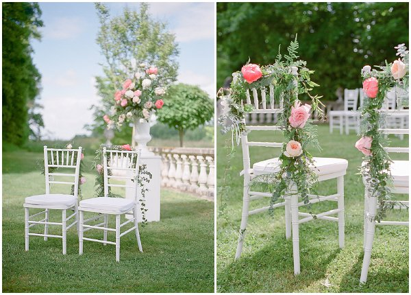 floral chair decorations