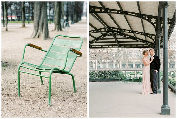 green chairs in Paris