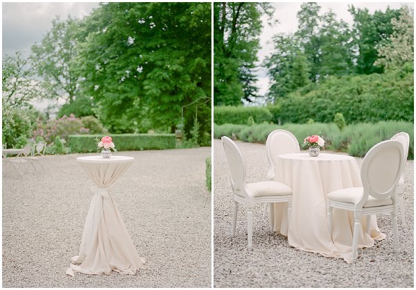 muted tones wedding reception