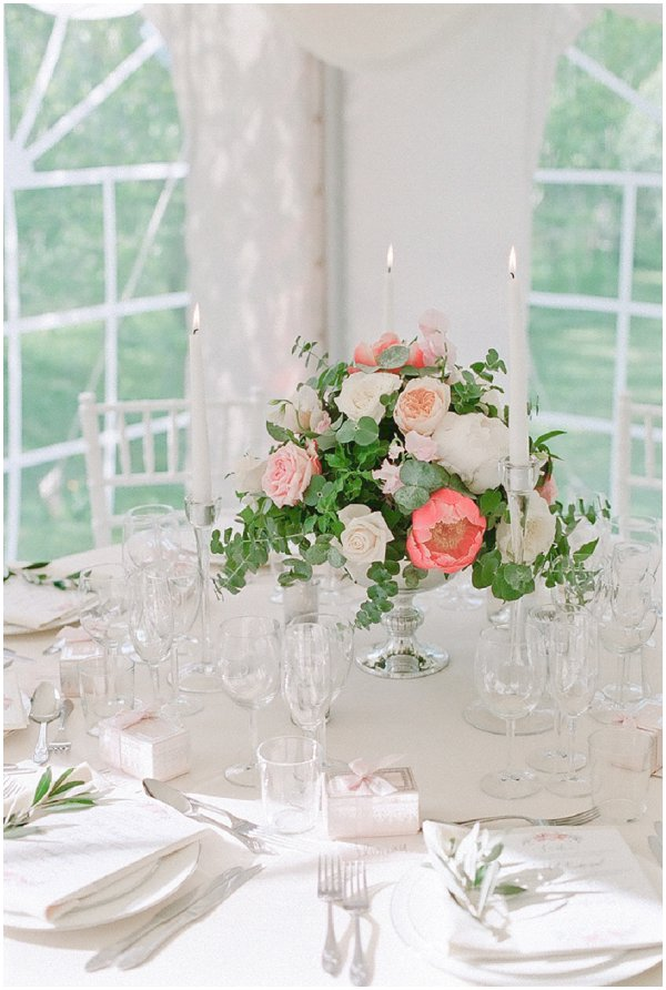 pastel wedding table decorations