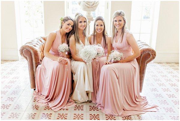 peachy pink bridesmaid dresses