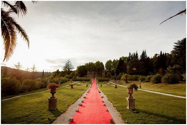 red carpet wedding venue