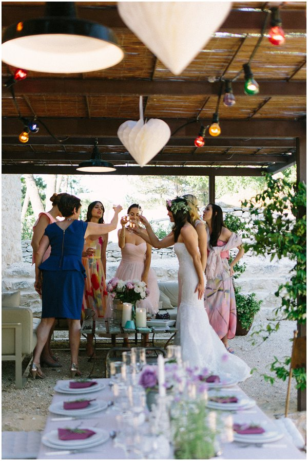 relaxed wedding day celebrations