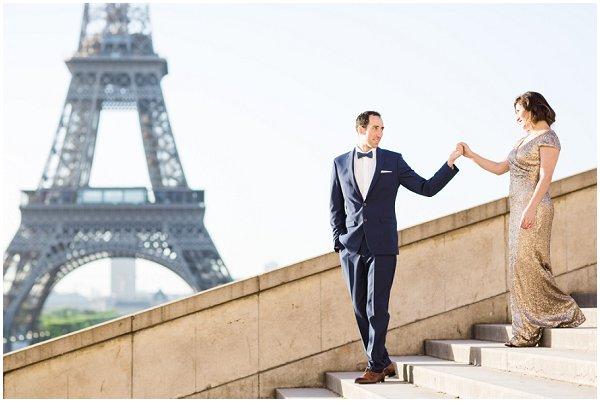romantic portrait session in Paris