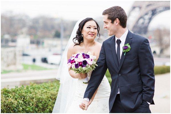 romantic wedding in Paris