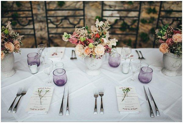 rustic  chic wedding table