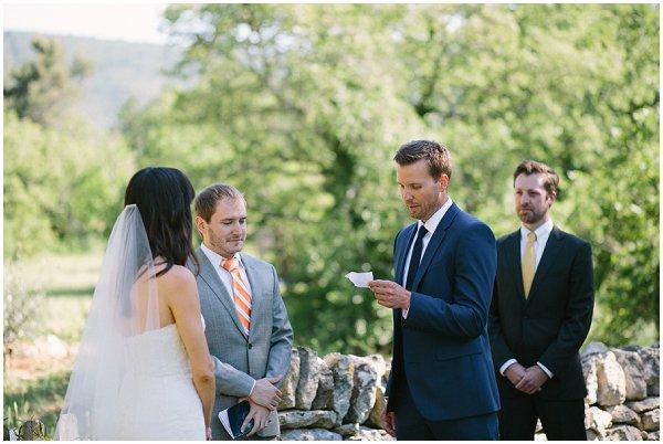 wedding ceremony in Provence