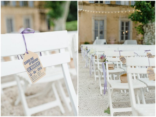 wedding chair labels