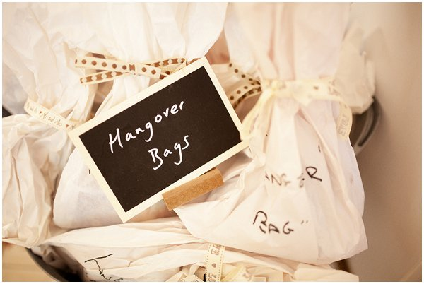 wedding hangover bags