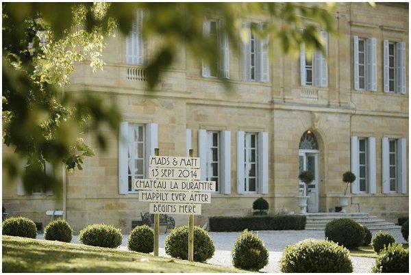 Chateau la Durantie wedding