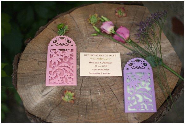 French themed wedding stationery
