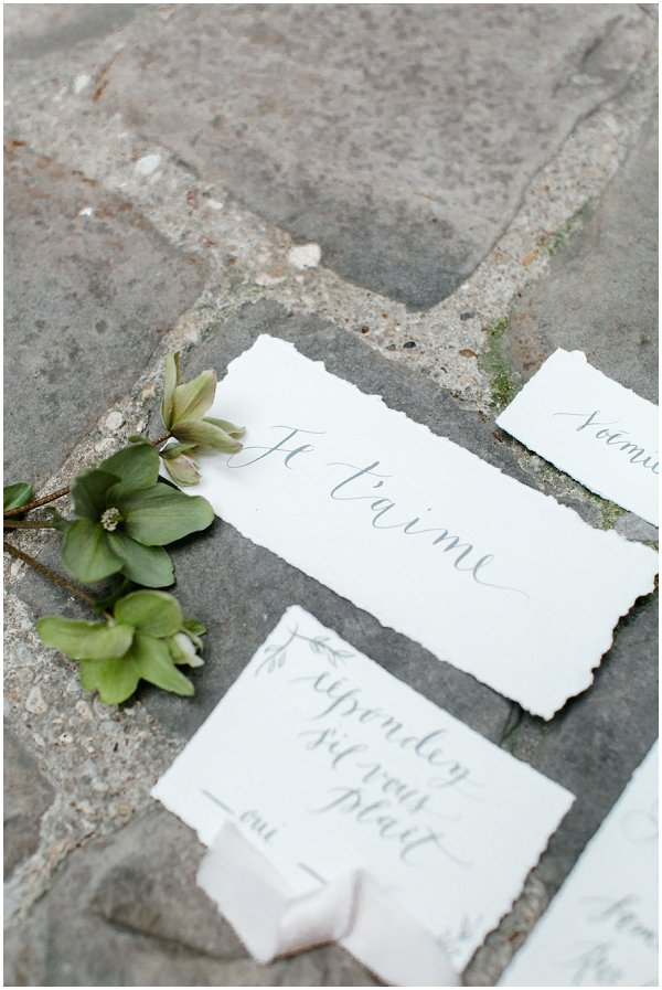 Paris themed wedding stationery