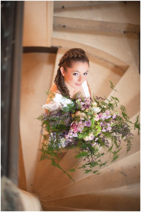 Rustic inspired wedding bouquet