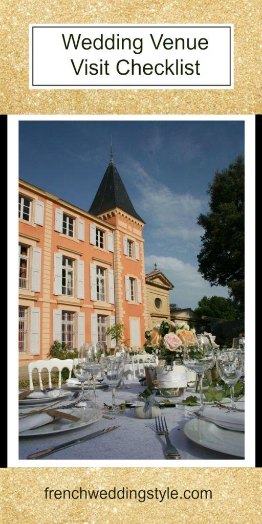 Wedding Venue Visit Checklist