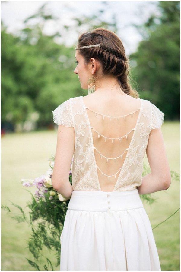 back detailing wedding dress