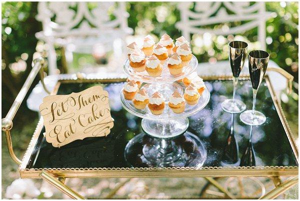 bar cart full of desserts