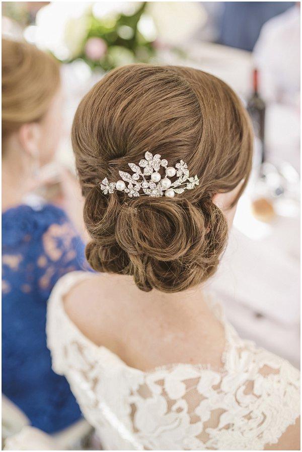chignon bridal hairstyle