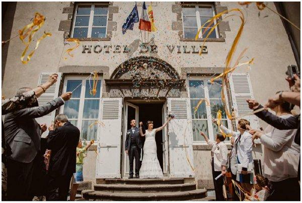 civil French wedding