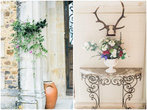 decorating a wedding chateau