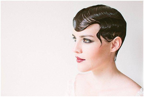 dramatic pixie crop bridal hair